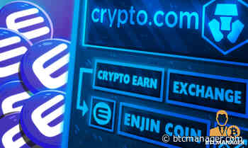 Crypto.com Adds Enjin Coin (ENJ) to Earn and Exchange - BTCMANAGER
