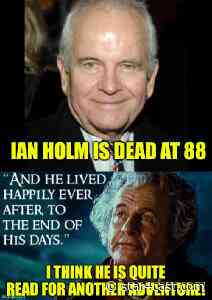 Ian Holm – a surprisingly high-octane Virgo