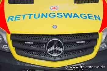 Hainichen: Rettungswagen stößt mit Auto zusammen - Freie Presse