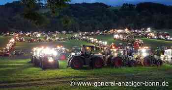 Lohmar: 400 Landwirte demonstrieren mit Treckern in Traktor-Formation - General-Anzeiger