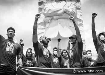 """Wizards, Mystics lead """"Together We Stand"""" peaceful protest to commemorate Juneteenth"""