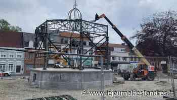 Wormhout : la fin des travaux du kiosque pour mi-septembre? - Le Journal des Flandres