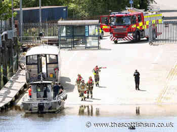 Woman rescued from River Clyde after car crashed into water at Renfrew ferry terminal - The Scottish Sun