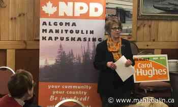 Hughes praises Algoma-Manitoulin-Kapuskasing's pandemic response in parliament - Manitoulin Expositor