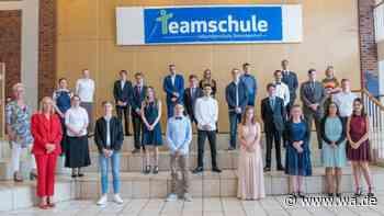 Entlassfeier an Teamschule in Drensteinfurt - Schüler machen Abschluss mit Abstand - wa.de