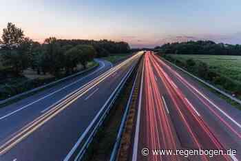 Rastatt/Baden-Baden: Autobahn wird saniert - Regenbogen