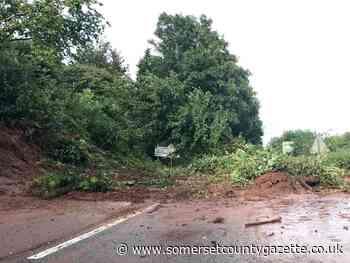 Landslip closes B3227 at Milverton roundabout - Somerset County Gazette