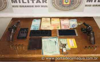 Brigada Militar prende três indivíduos por tentativa de latrocínio em Uruguaiana - Portal de Camaquã