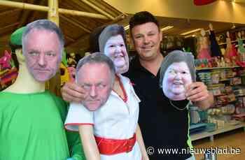 """Marc Van Ranst koopt acht maskers van zichzelf bij Jokershop : """"Marc en Maggie sloten alle winkels, dan mag er - Het Nieuwsblad"""