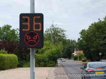 Alton's flashy new speed signs ready to go - Farnham Herald