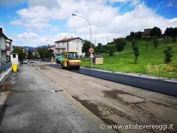 Nuovi asfalti nella parte alta di via Roma a Umbertide - Alto Tevere Oggi