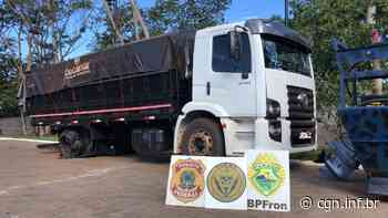 Caminhão com carga de cigarros é apreendido pelo BPFron em Terra Roxa - CGN