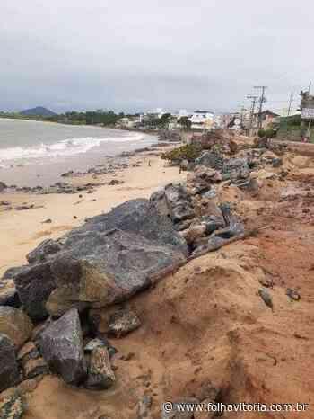 Tem início processo de engordamento da Praia de Meaípe em Guarapari - Folha Vitória