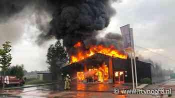 Grote brand legt fietsenwinkel Roden in de as (update) - RTV Noord