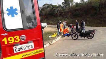 Bombeiros socorrem mais um motociclista, vítima de acidente na rodovia - Alfenas Hoje