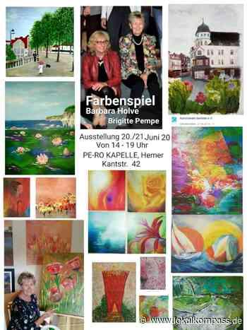 Erneute Ausstellung in der PeRo-Hemer Kunstkapelle am 20.+21.Juni 2020: Farbenspiel von Brigitte Pempe und Barbara Holve - Hemer - Lokalkompass.de