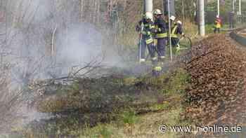 Feuerwehr: Löschwasser kommt in Finsterwalde auf der Schiene - Lausitzer Rundschau