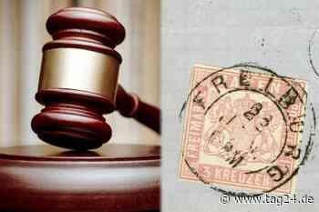 """Rosa Briefmarke """"Stockach-Provisorium"""" ist ein kleines Vermögen wert - TAG24"""