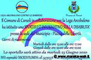 """""""SPORTELLO INFORMATIVO SULLA DISABILITA'"""" – COMUNE DI CARSOLI E LEGA ARCOBALENO. - MarsicaWeb"""
