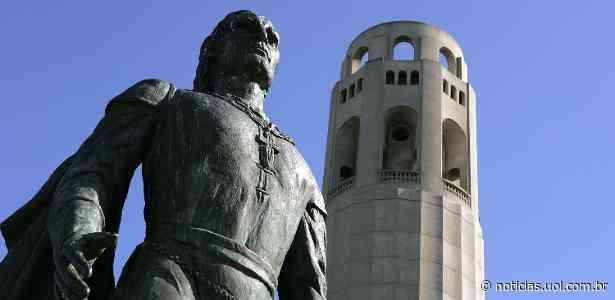 São Francisco, nos EUA, remove estátua de Cristóvão Colombo após protestos - UOL Notícias