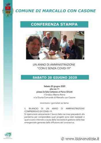 """Marcallo con Casone: un anno di Amministrazione """"Con e senza Covid -19"""" - Ticino Notizie"""