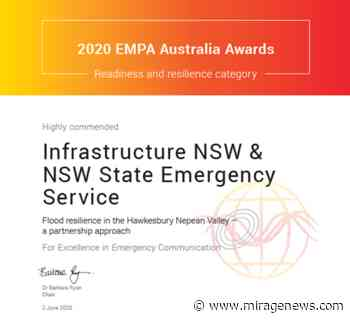 NSW SES acknowledged for Hawkesbury-Nepean Valley Community Resilience Program - Mirage News