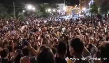 Politie moet optreden tegen feestvierende jongeren in Brussel