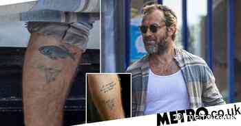 Jude Law covers up tattoo dedicated to ex Sadie Frost with a fish - Metro.co.uk