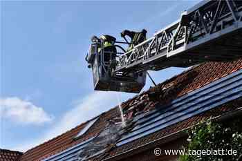 Feuer in Fotovoltaik-Anlage in Jork - Blaulicht - Tageblatt-online