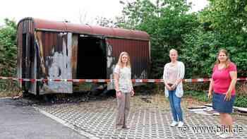 Rheinbach: Elterninitiative geschockt! Unser Bauwagen wurde angezündet - BILD