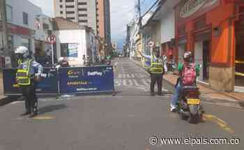 Cierran vías del centro de Palmira por alto flujo vehicular durante el Día sin IVA - El País