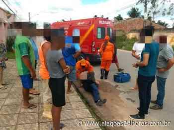 Colisão entre carro e moto deixa motociclista ferido em Arapiraca - Alagoas 24 Horas