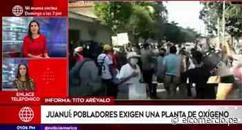 San Martín: pobladores de Juanjuí protestaron por oxígeno y se enfrentaron a la PNP - El Comercio Perú