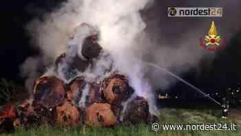 Incendio a Favaro Veneto: bruciano 100 rotoballe - Nordest24.it