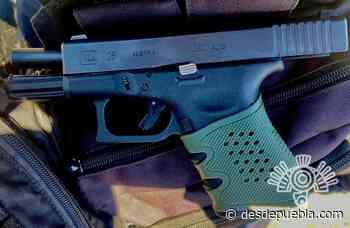 En Palmar de Bravo, policía estatal y GN atraparon a hombre en posesión ilegal de un arma - DesdePuebla