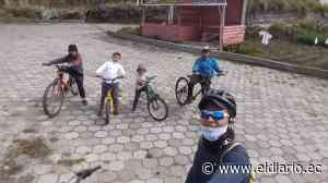 Viajó desde Riobamba a Manta en bicicleta para reencontrarse con su esposa - El Diario Ecuador