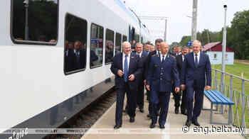 Lukashenko opens new electrified railway section in Svetlogorsk - Belarus News (BelTA)
