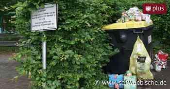 Ärger um wilde Müllablagerungen: Pappbecher und volle Windeln landen in der Landschaft - Schwäbische