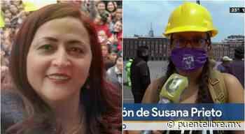 Protestan en Palacio Nacional; piden liberar a abogada juarense Susana Prieto - Puente Libre La Noticia Digital