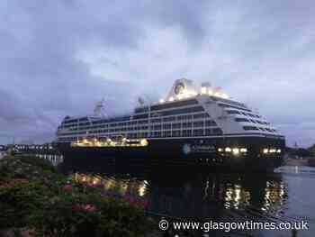 Empty cruise ship sails up River Clyde - and people cannot handle it - Glasgow Times