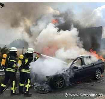 Feuerwehreinsatz Bei Wardenburg: Brennender Pkw auf der A29 - Nordwest-Zeitung