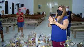 Moradora de Porangatu troca presentes de aniversário por cestas básicas para doar a famílias carentes - G1