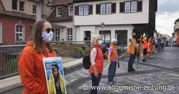 Bad Kreuznach: Menschenkette über die Nahebrücken - Allgemeine Zeitung