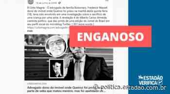 Investigação sobre desaparecimento de menino em Guaratuba descartou envolvimento de Wassef - Política Estadão