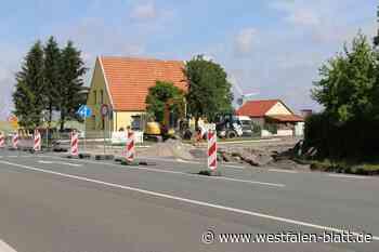 Bauarbeiten an der B68-Kreuzung haben begonnen: Geteilte Meinungen über Ampellösung - Westfalen-Blatt