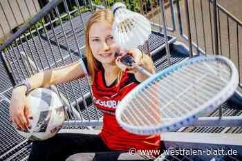 Hannah Schiwon spielt in Hövelhof Badminton und in Borchen Fußball: Multitalent macht's mit links - Westfalen-Blatt