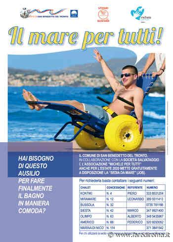 Sedie Job per i disabili in spiaggia a San Benedetto del Tronto - Farodiroma