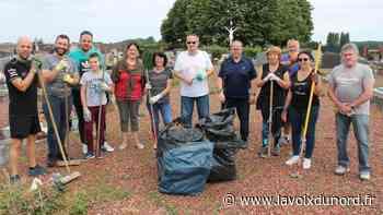 Wavrechain-sous-Denain: les élus de la majorité ont nettoyé le cimetière - La Voix du Nord