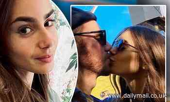 Lily Collins shares a smooch with director boyfriend Charlie McDowell in cute throwback - Daily Mail