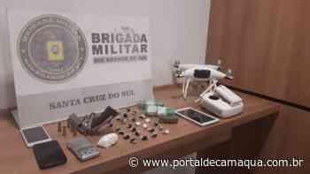 Brigada Militar de Santa Cruz do Sul realiza prisão por tráfico de drogas e porte ilegal de arma - Portal de Camaquã